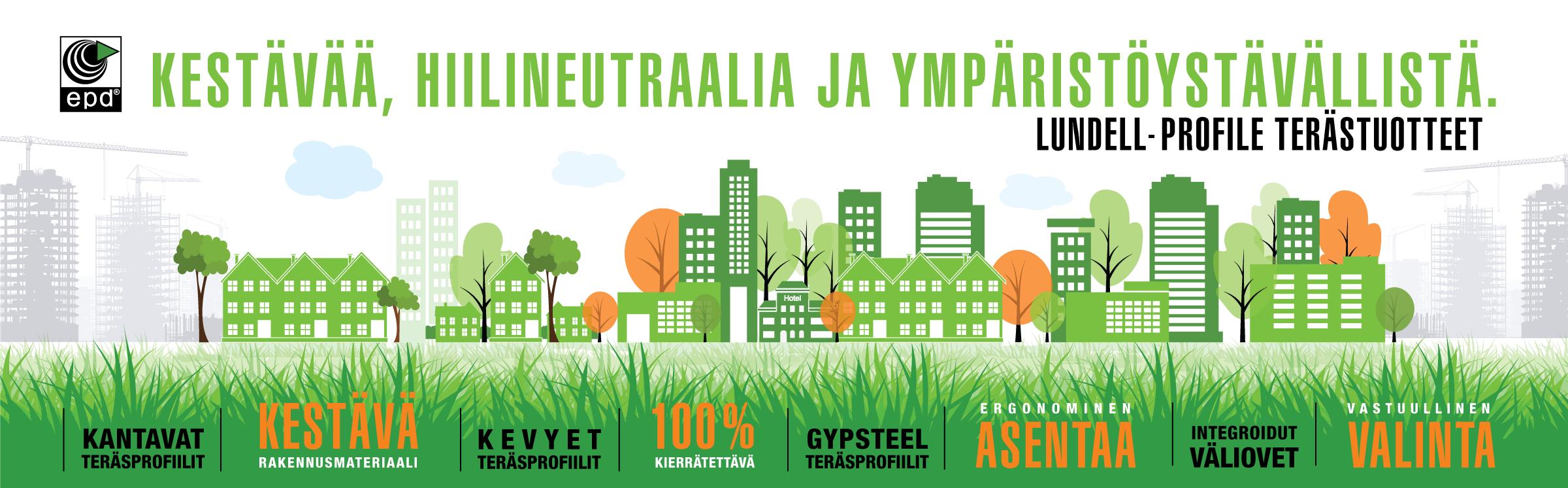 Aulis Lundell Oy etusivu  teräs ja ympäristö